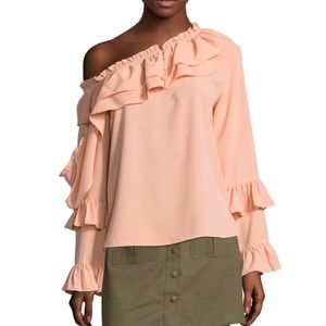 W118 By Walter Baker One-Shoulder Ruffled Top
